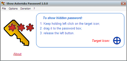Windows 7 Show Asterisks Password Free 1.2.0.0 full